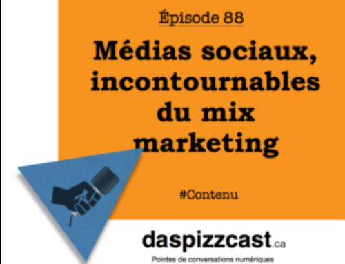Médias sociaux, incontournable du mix marketing