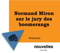 Normand Miron sur le jury des boomerangs | miron & cies