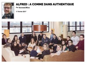 Alfred : A comme dans authentique | Grenier aux nouvelles