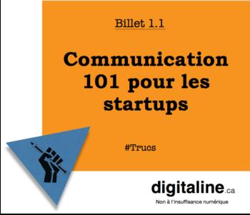 Communication 101 pour les startups | digitaline.ca