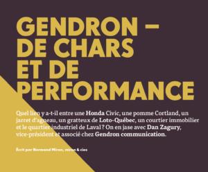 Gendron - de chars et de performance | Grenier Mag