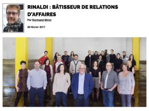 Rinaldi : bâtisseur de relations d'affaires - Grenier aux nouvelles