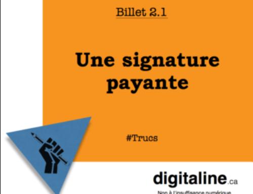 Une signature payante