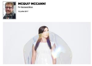 McQui ? McCann ! | Grenier aux nouvelles