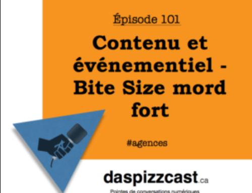 Contenu et événementiel – Bite Size mord fort