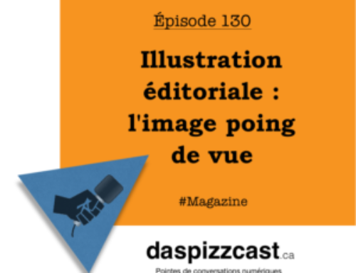 Illustration éditoriale : l'image poing de vue